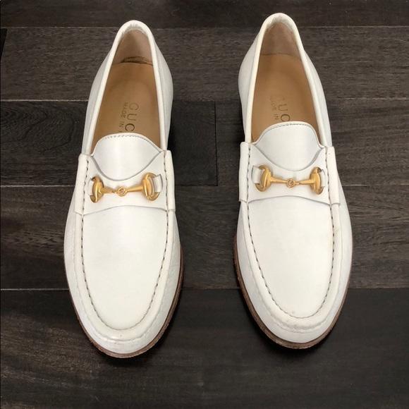 Gucci Shoes - Vintage Gucci Leather Horse-bit Loafers Women s 1c76f7bbcc